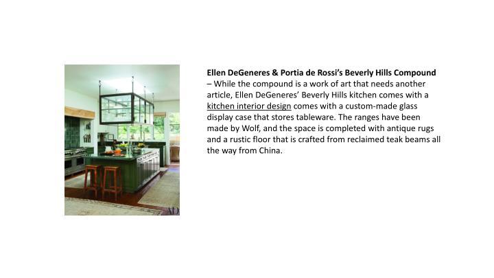 Ellen DeGeneres & Portia de Rossi's Beverly Hills Compound
