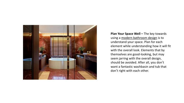 Plan Your Space Well