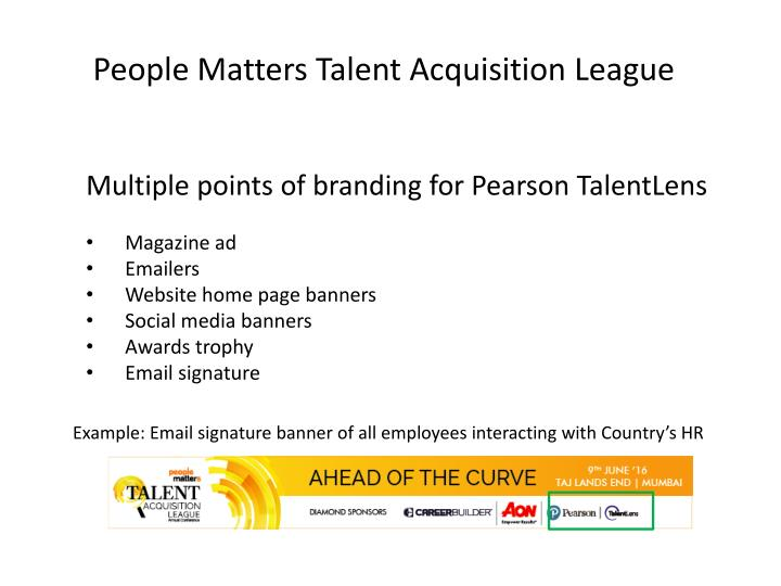 People Matters Talent Acquisition League