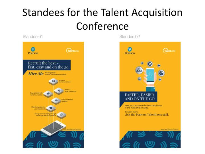 Standees for the Talent Acquisition Conference