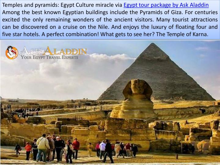 Temples and pyramids: Egypt Culture miracle via