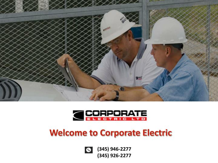 Welcome to Corporate Electric