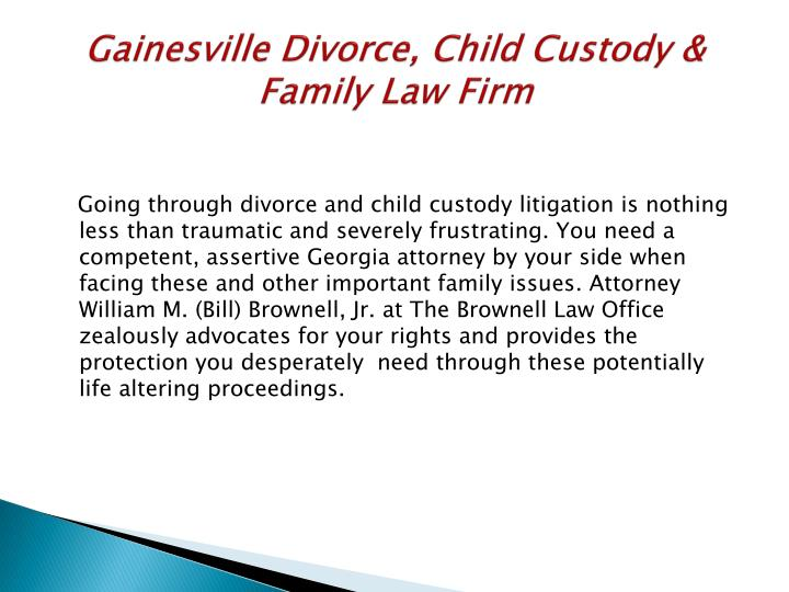 Gainesville Divorce, Child Custody & Family Law Firm
