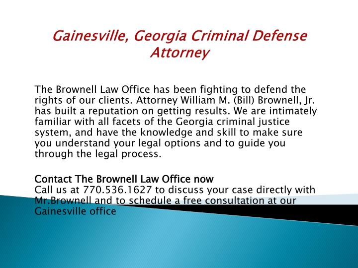 Gainesville, Georgia Criminal Defense Attorney