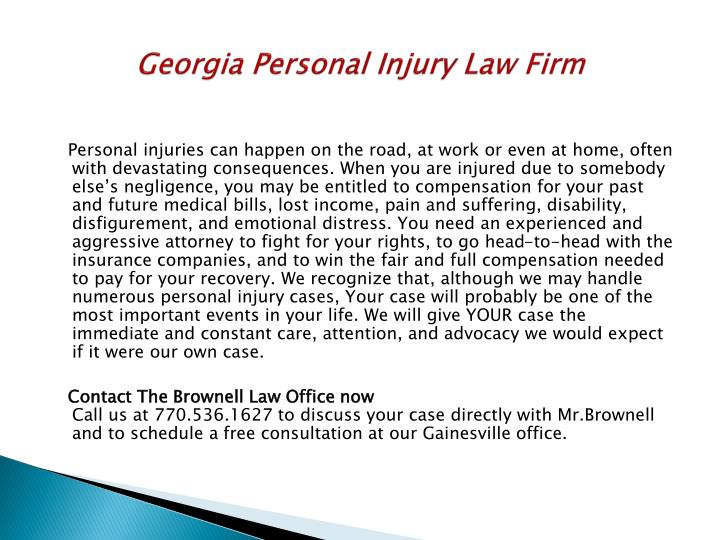 Georgia Personal Injury Law Firm