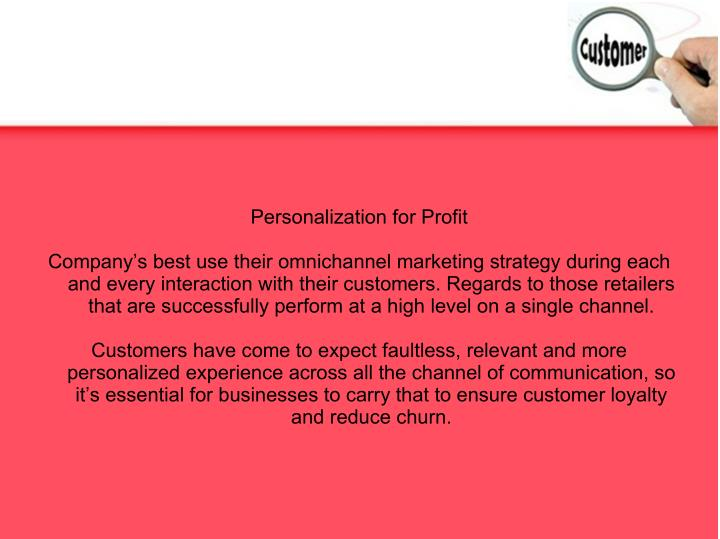 Personalization for Profit