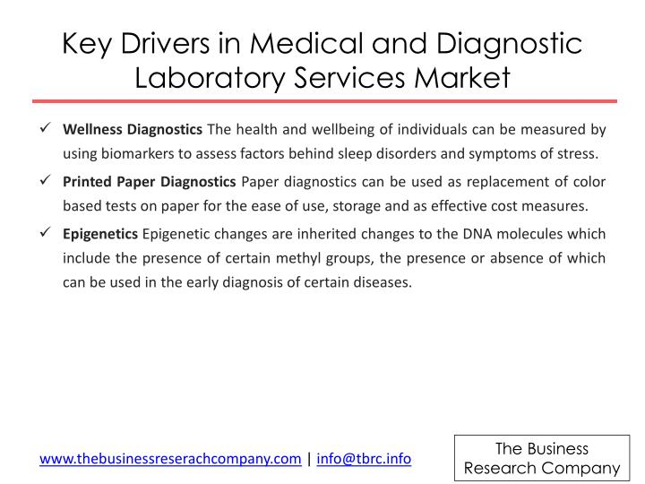 Key drivers in medical and diagnostic laboratory services m arket