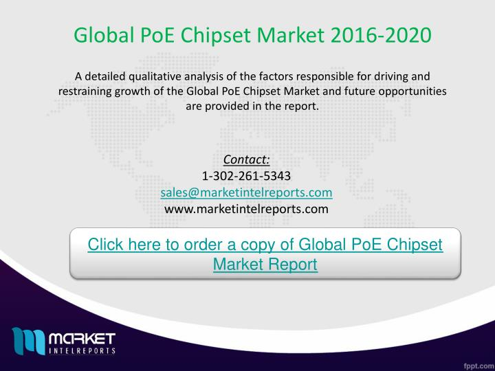 Global PoE Chipset Market 2016-2020