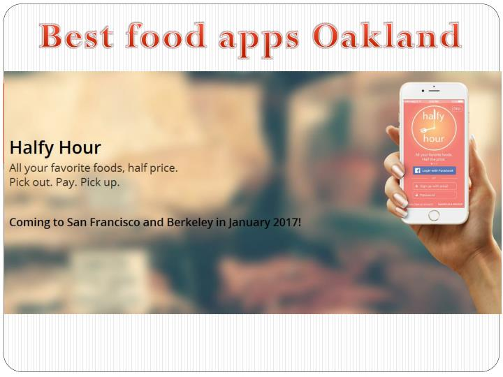 Best food apps Oakland
