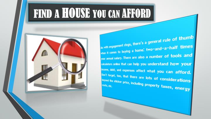 Find a house you can afford