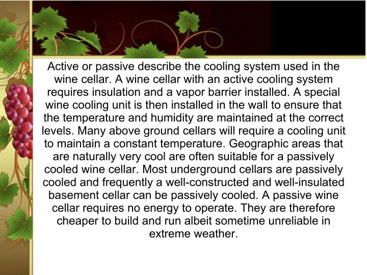 Active or passive describe the cooling system used in the