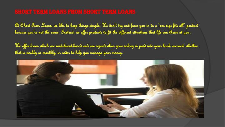 Short term loans from Short Term