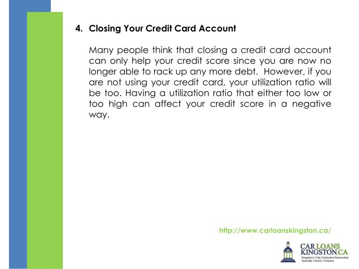 Closing Your Credit Card Account