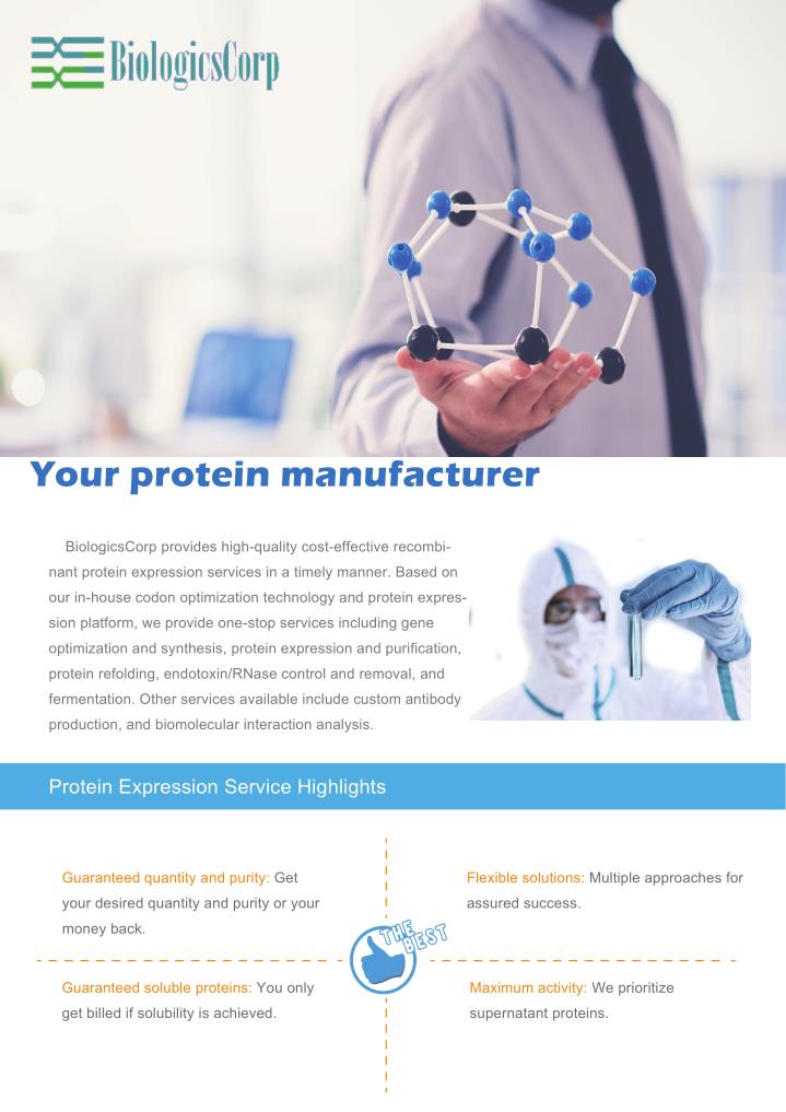 Your protein manufacturer