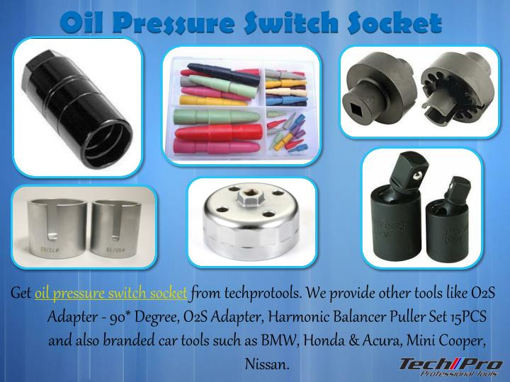 Oil Pressure Switch Socket