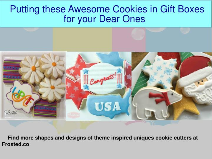 Putting these Awesome Cookies in Gift Boxes