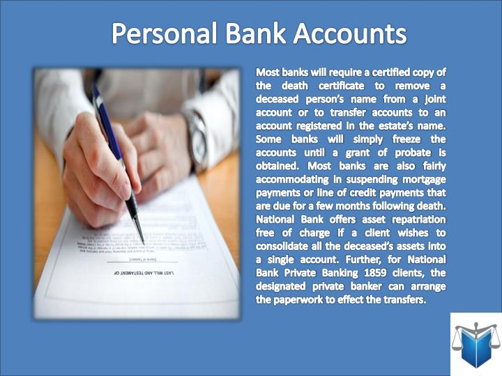Personal Bank Accounts