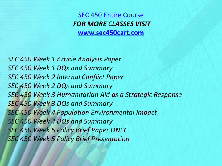 SEC 450 Entire Course
