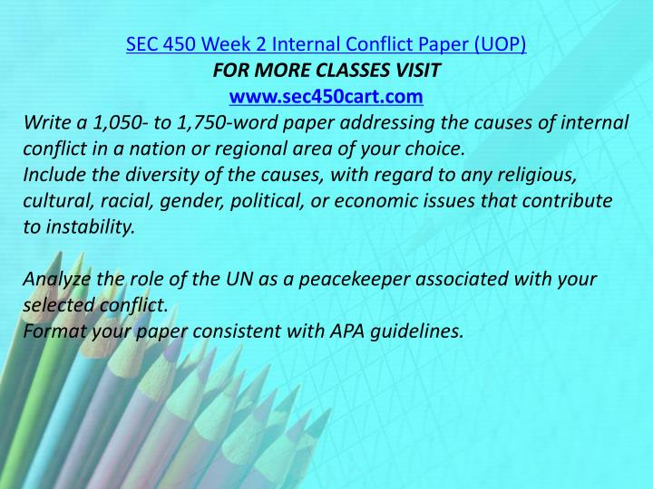 SEC 450 Week 2 Internal Conflict Paper (UOP)