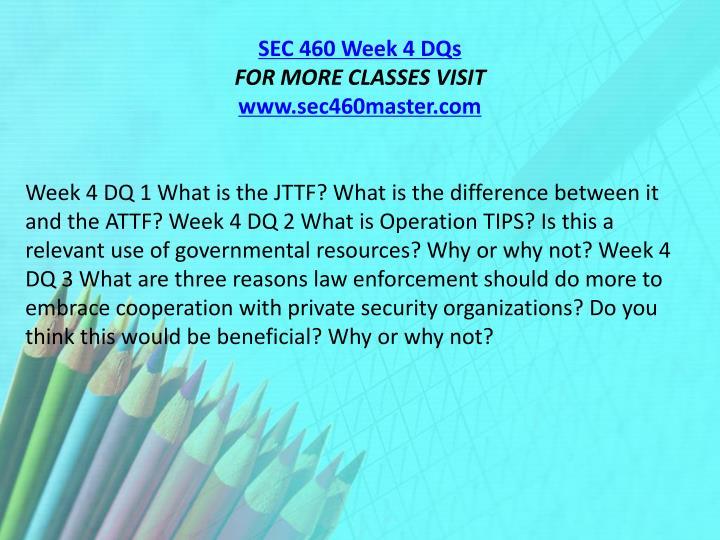 SEC 460 Week 4 DQs
