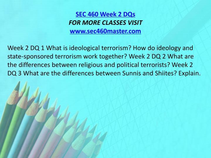 SEC 460 Week 2 DQs