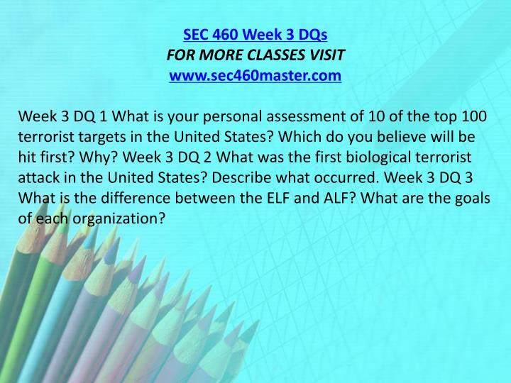SEC 460 Week 3 DQs