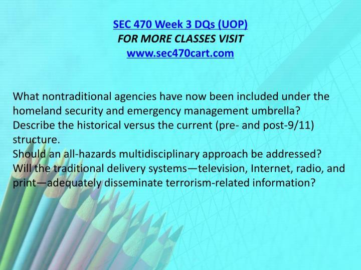 SEC 470 Week 3 DQs (UOP)