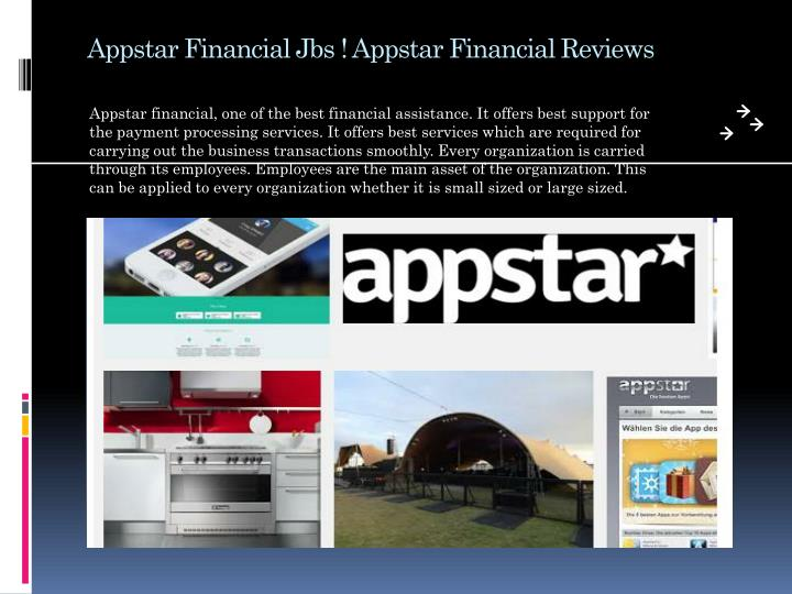 Appstar financial jbs appstar financial reviews