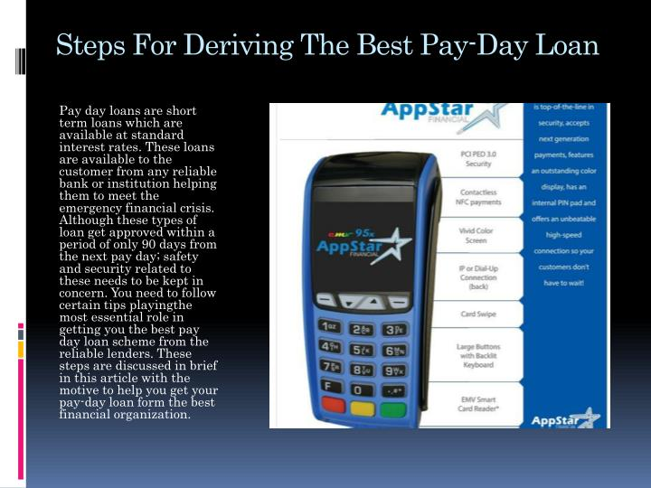 Steps For Deriving The Best Pay-Day Loan