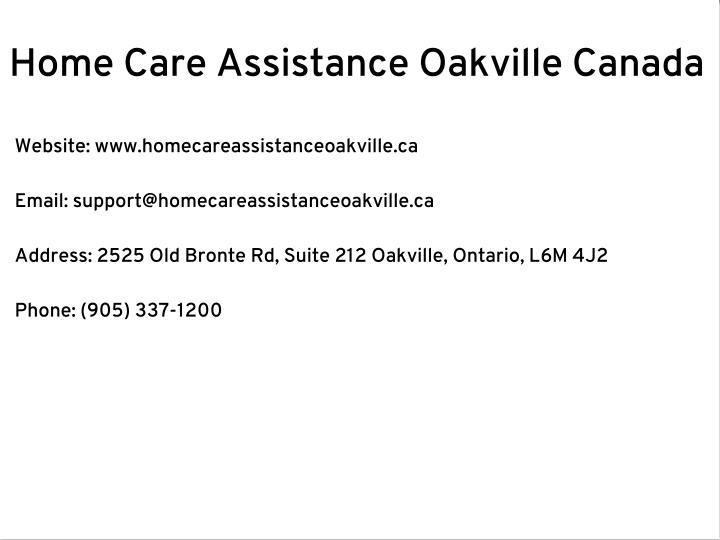 Home Care Assistance Oakville Canada