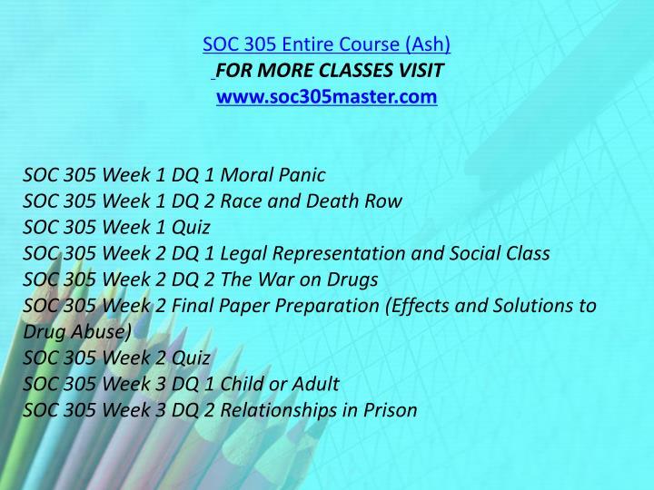 SOC 305 Entire Course (Ash)