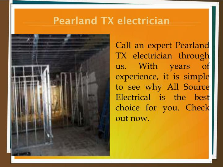Pearland TX electrician
