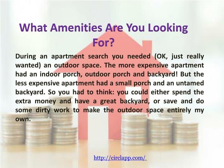 What Amenities Are You Looking