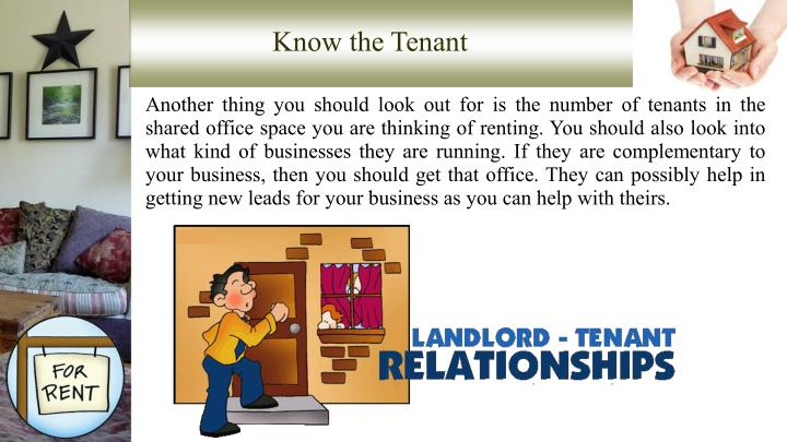 Know the Tenant
