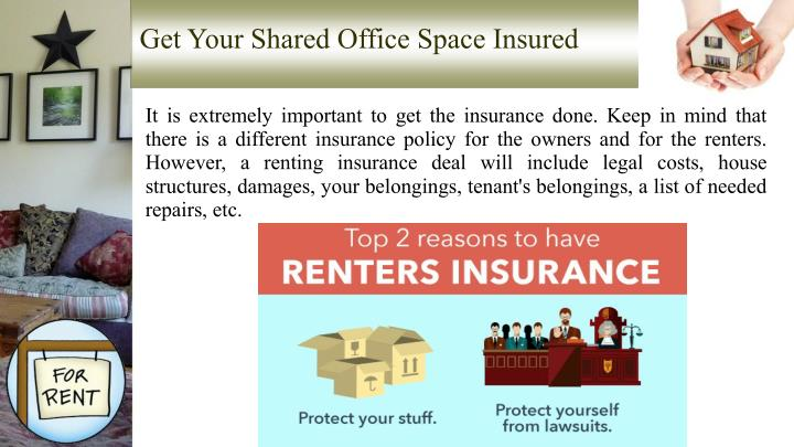 Get Your Shared Office Space Insured