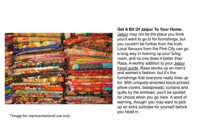 Get A Bit Of Jaipur To Your Home: