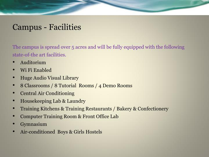 Campus - Facilities