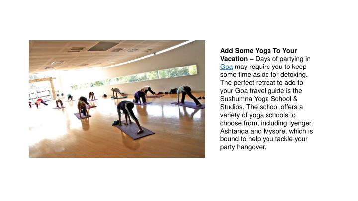 Add Some Yoga To Your Vacation