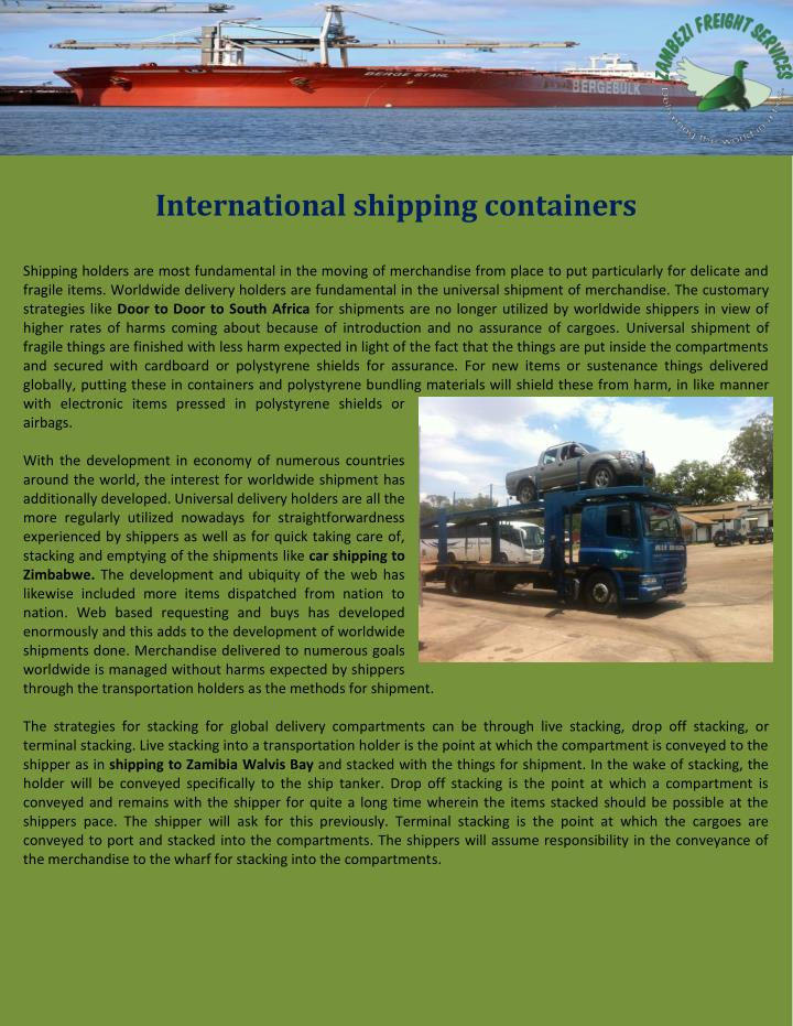 International shipping containers