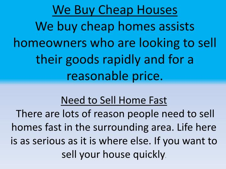 We Buy Cheap