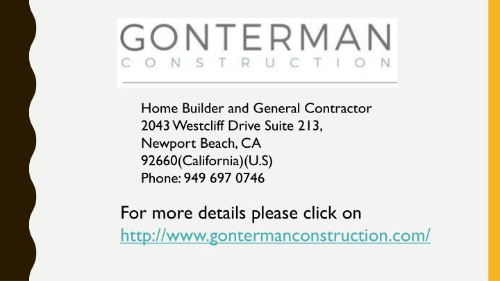 Home Builder and General Contractor