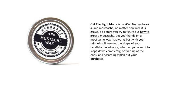 Get The Right Moustache Wax