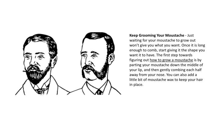 Keep Grooming Your Moustache