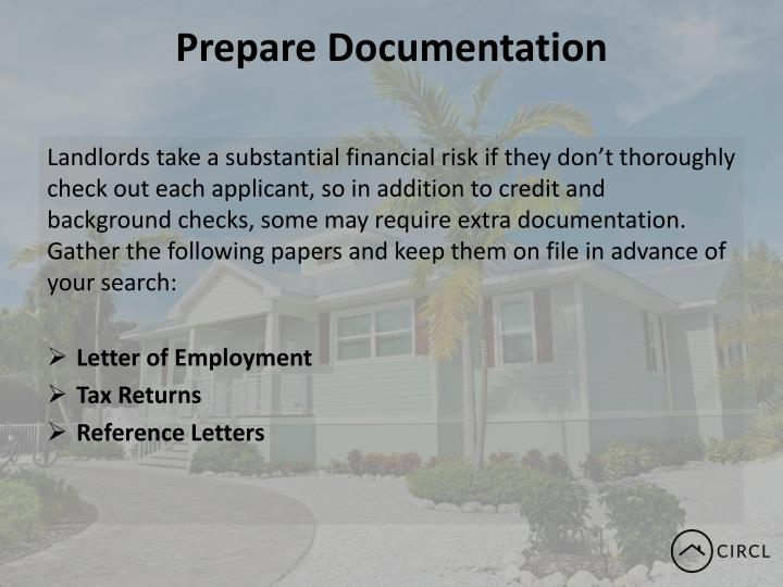 Prepare Documentation