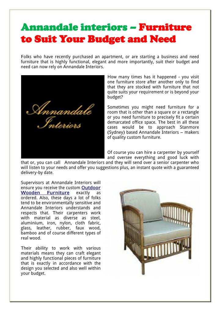 Annandale interiors