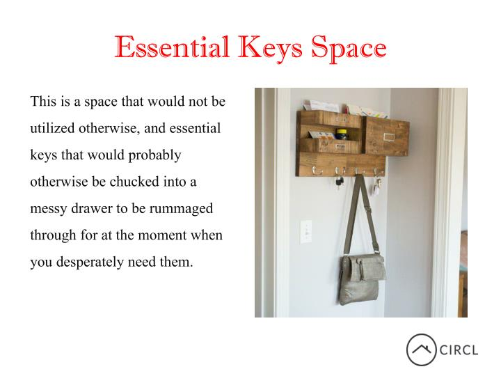 Essential Keys Space