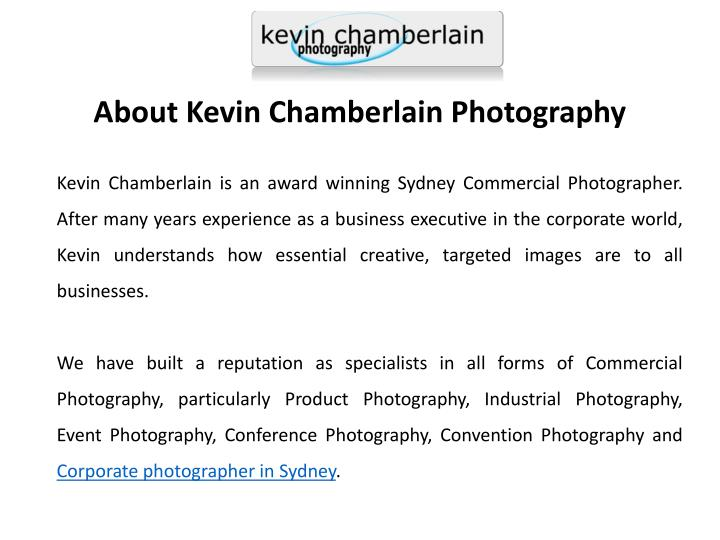 About Kevin Chamberlain Photography
