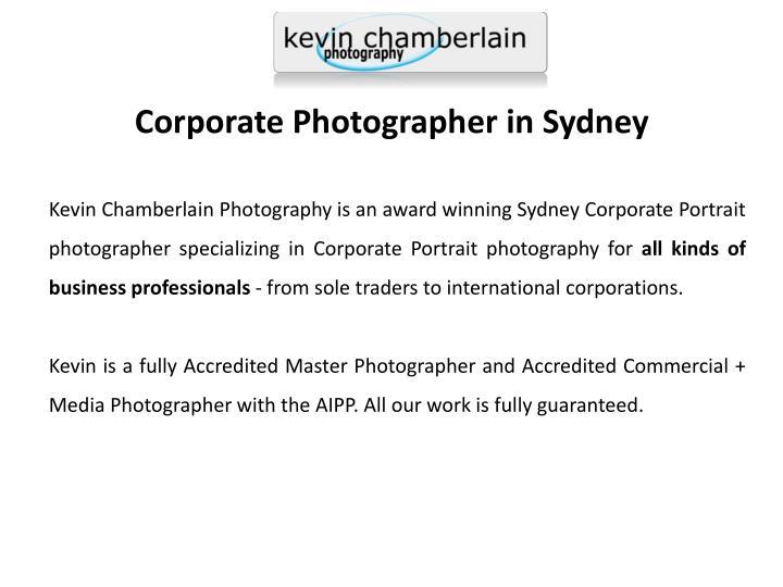 Corporate Photographer in Sydney