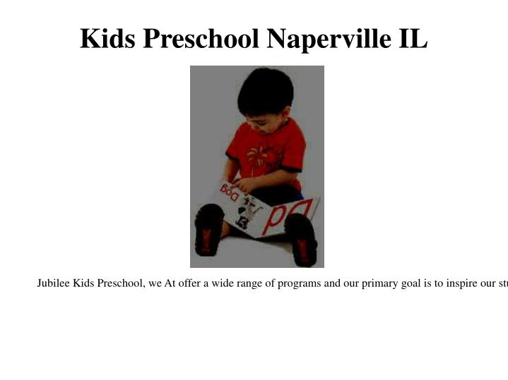 Kids Preschool Naperville IL