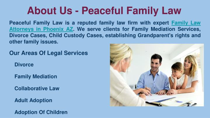 About us peaceful family law